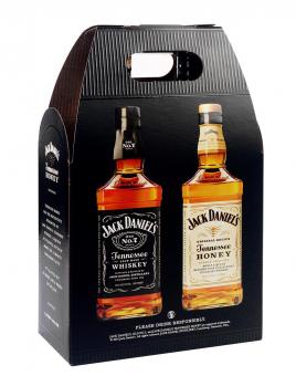 Jack Daniel's Black Label 40% + Honey 35% 2x1l